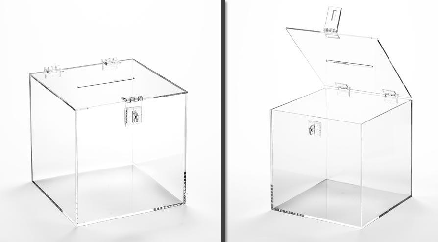 Urnas vendidas pela loja virtual Web Acrílicos