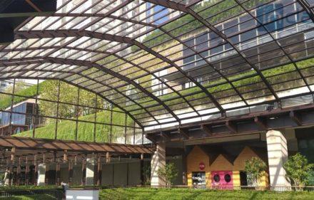 Shopping Cidade Jardim ganha cobertura retrátil de acrílico