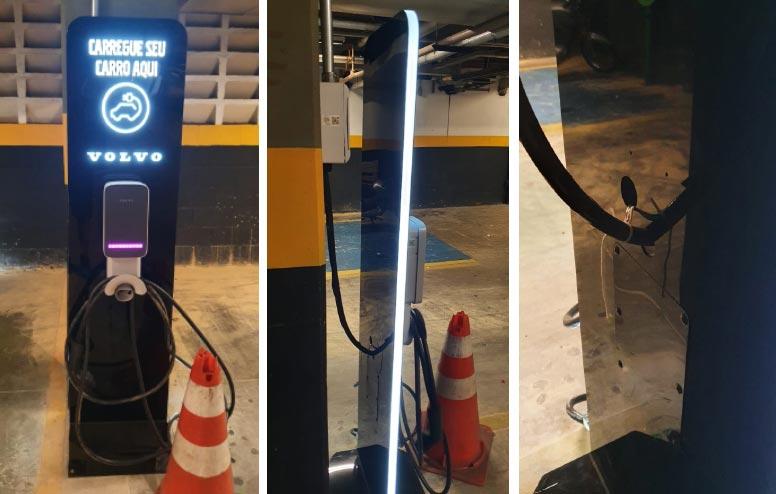 Acrílico aliado ao abastecimento de carros elétricos